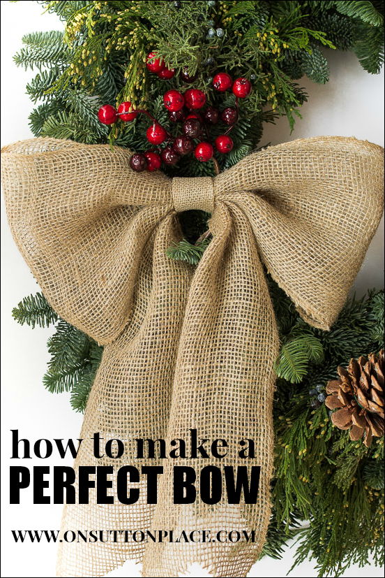 How to make a perfect bow navidad diy and crafts and for Burlap christmas curtains
