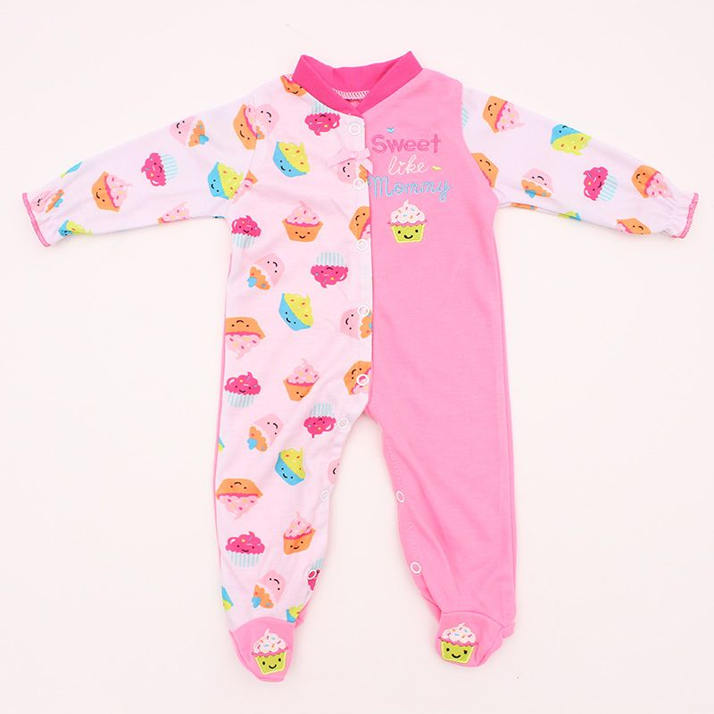 Cute Dotted Pattern Rompers Hat Pajama Outfits For Reborn Doll Accessory