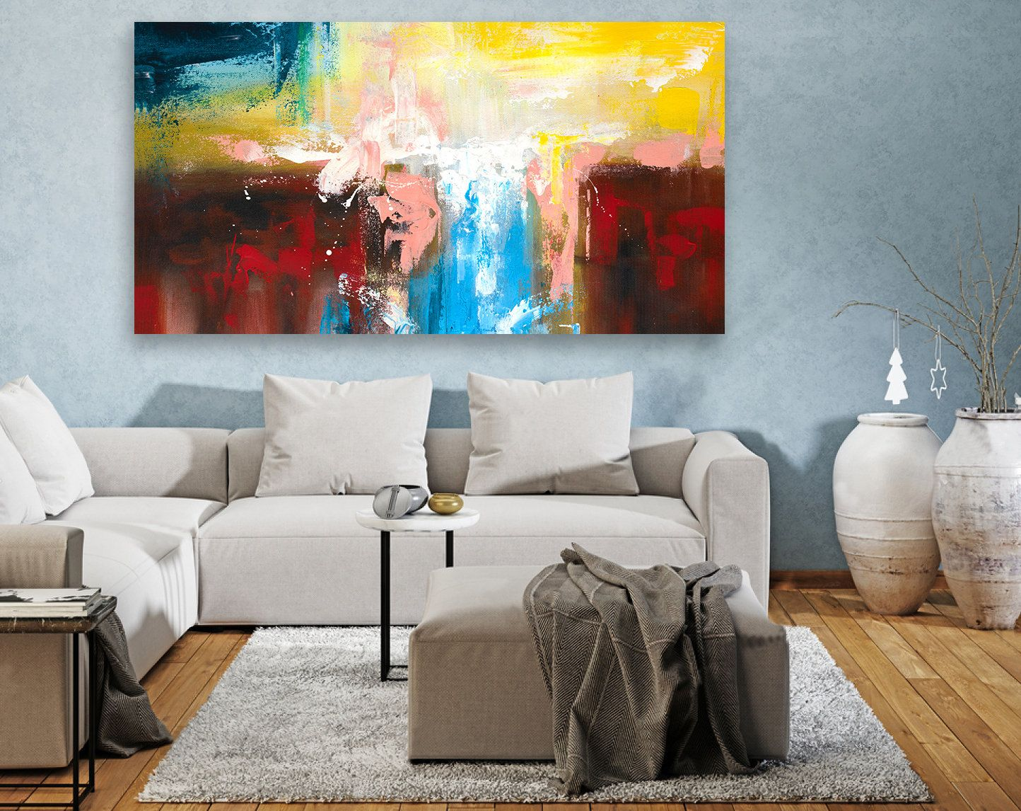Astonishing Contemporary Wall Art Abstract Painting On Canvas Interior Design Ideas Clesiryabchikinfo