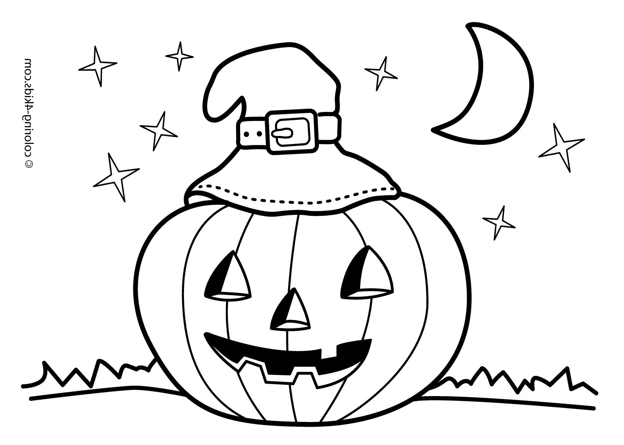 Jack O Lantern Coloring Pages Gambar Kartun Warna