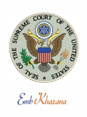 Seal Of The Us Supreme Court Designs Embroidery Designs Machine Embroidery Designs Machine Embroidery