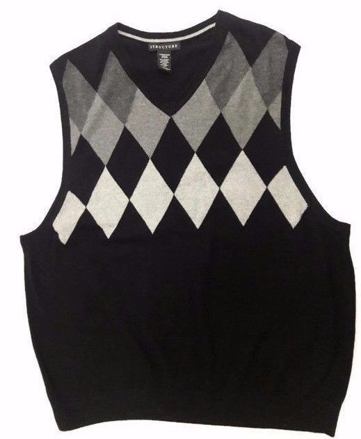 Check out #Structure Men's Cotton/Nylon/Wool #Argyle #Sweater ...