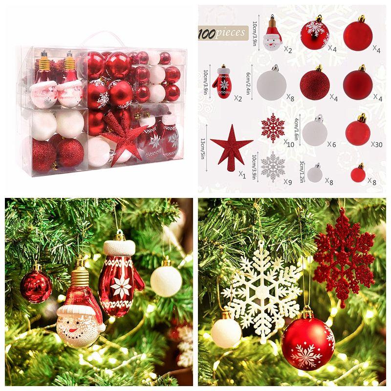 Weihnachtsbaum Plastik Weiß.Victor S Workshop 100 Tlg 3 12 5cm Traditionell Weihnachtskugeln