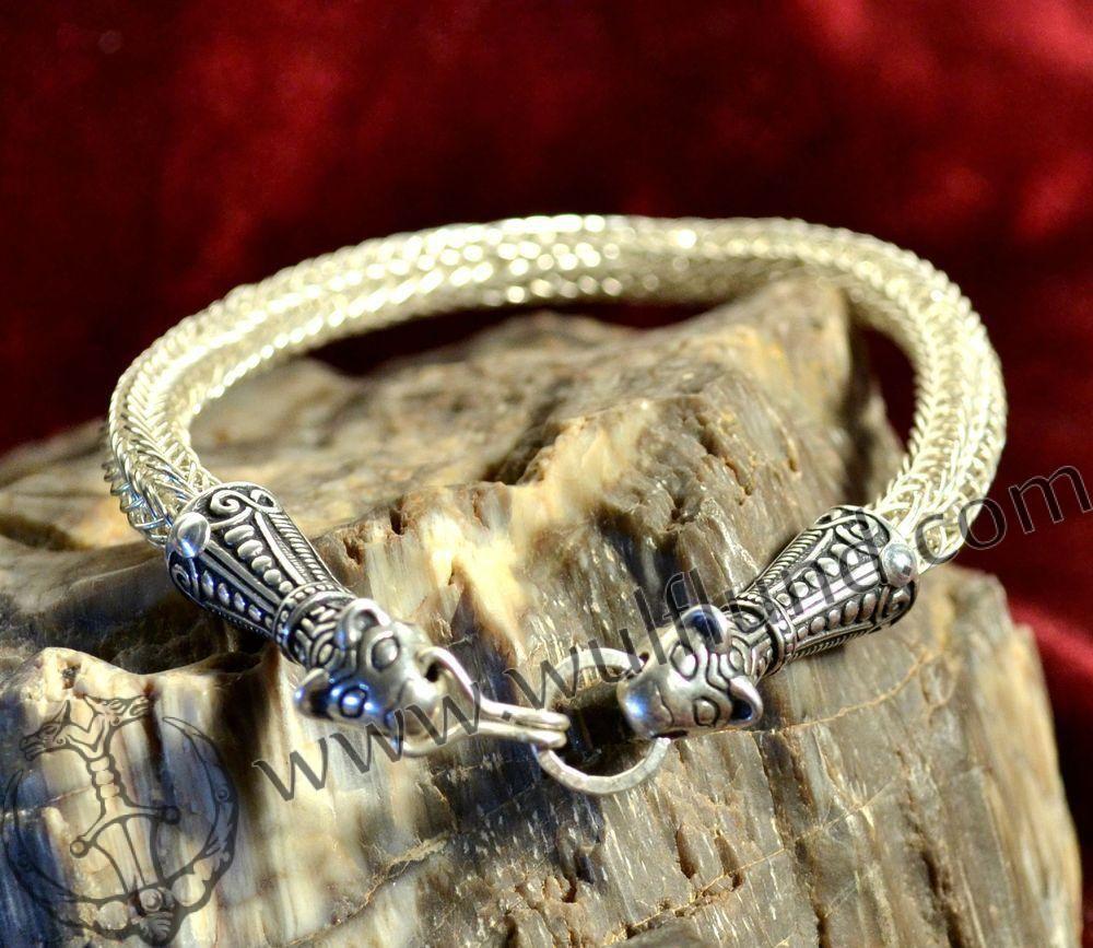 VIKING BRAIDED BANGLE, Borre style, silver 925