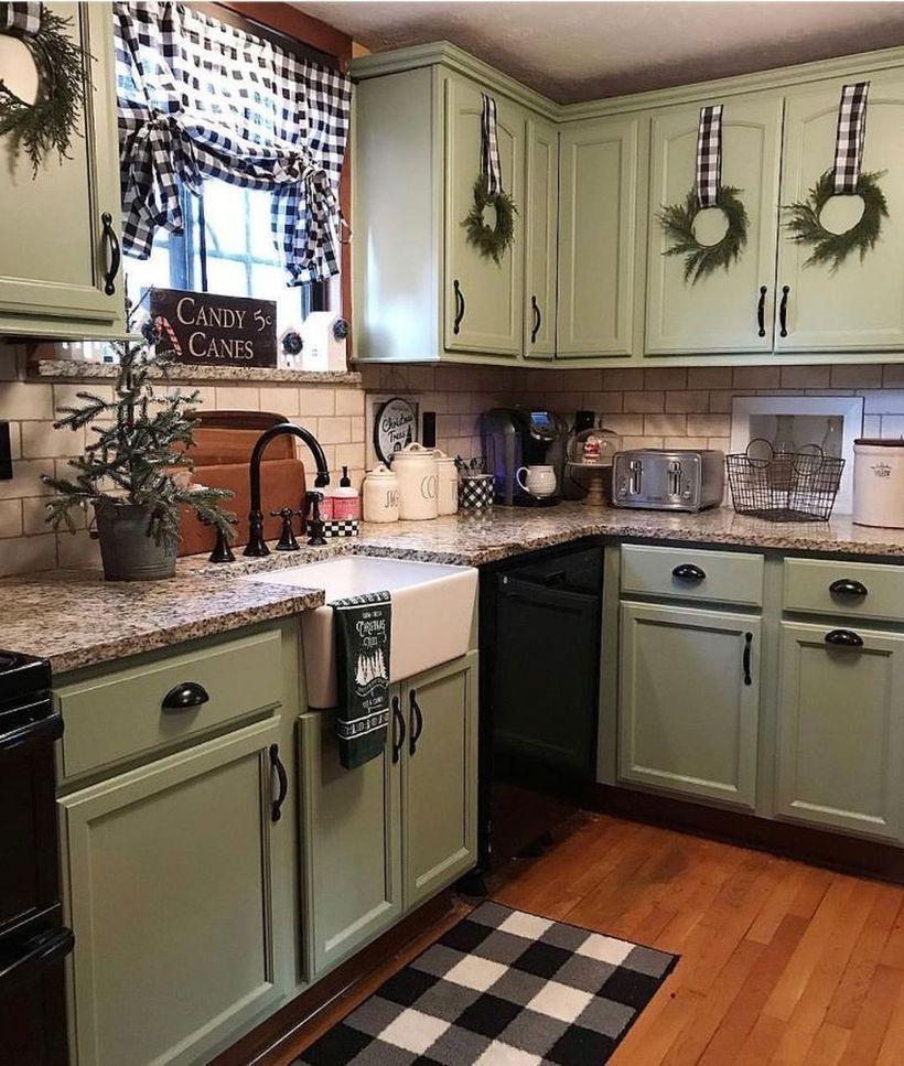 52 best christmas kitchen cabinet decorating ideas farmhouse kitchen decor kitchen renovation on farmhouse kitchen hutch id=91214