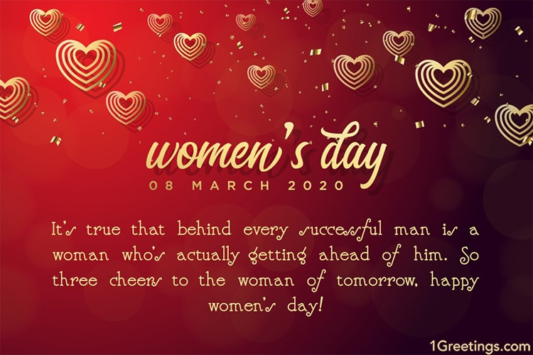 Customize Our Free Women S Day Greeting Cards For 2020 In 2020