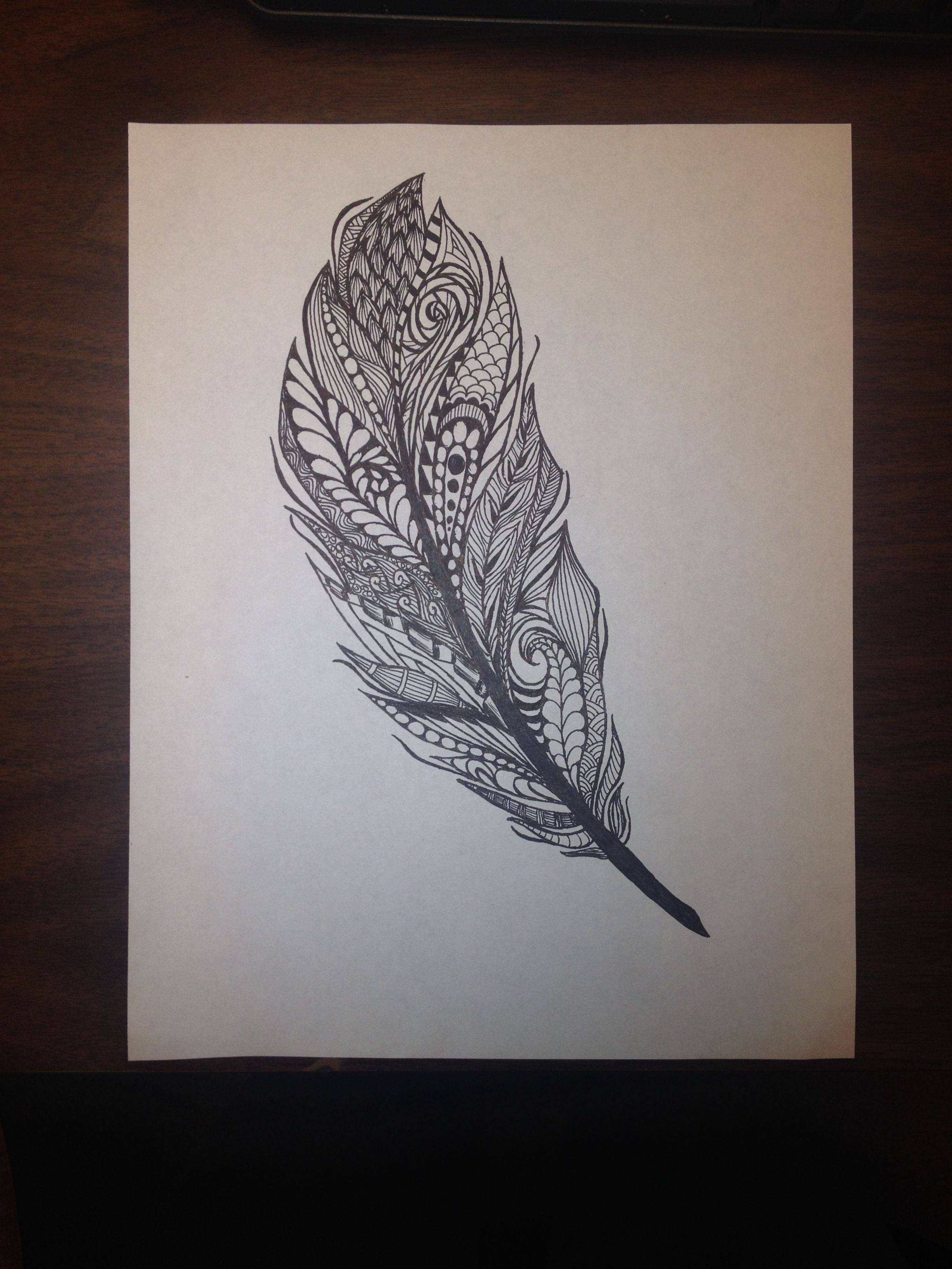 Feather Zentangle