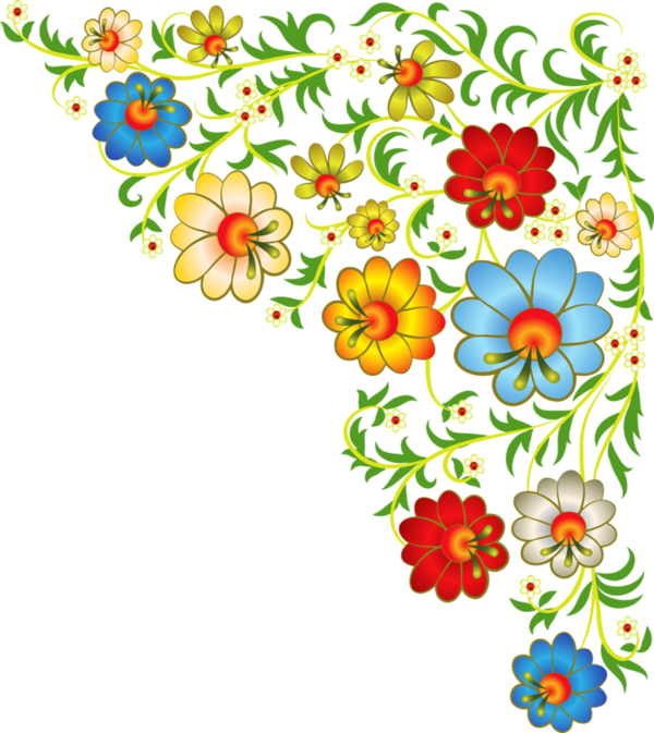 Image du Blog zezete2.centerblog.net   Bordures, Motif fleurs, Enluminure