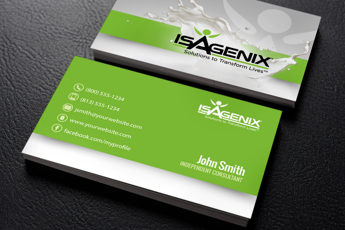 New Business Cards Just For Isagenix Consultants Mlm Isagenix Print Paper Graphicdes Isagenix Business Cards Free Business Cards Printing Business Cards