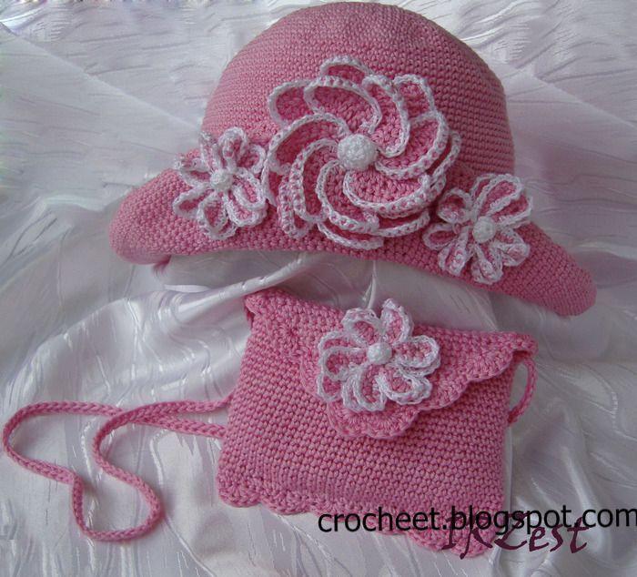 تشكيلة قبعات كروشية للبنات مع البترونات Crochet Crochet Crafts Crochet Summer Hats
