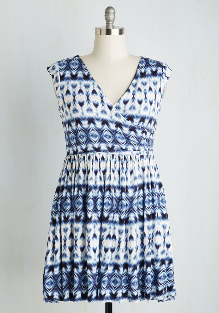 Breezier Said than Done Dress. Did someone suggest leaving the boardwalk? #blue #modcloth