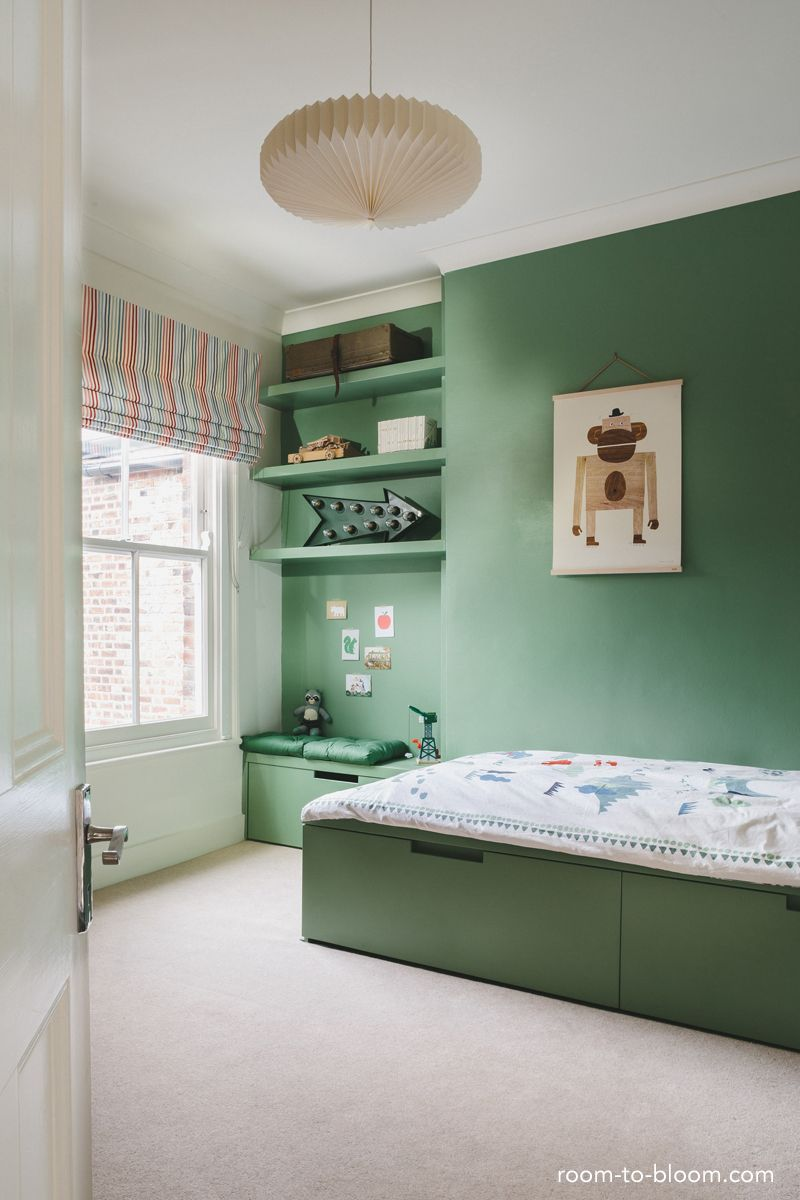 Toddler Boy Room Design: Green Is Great For A Kids Bedroom. With Such A Simple