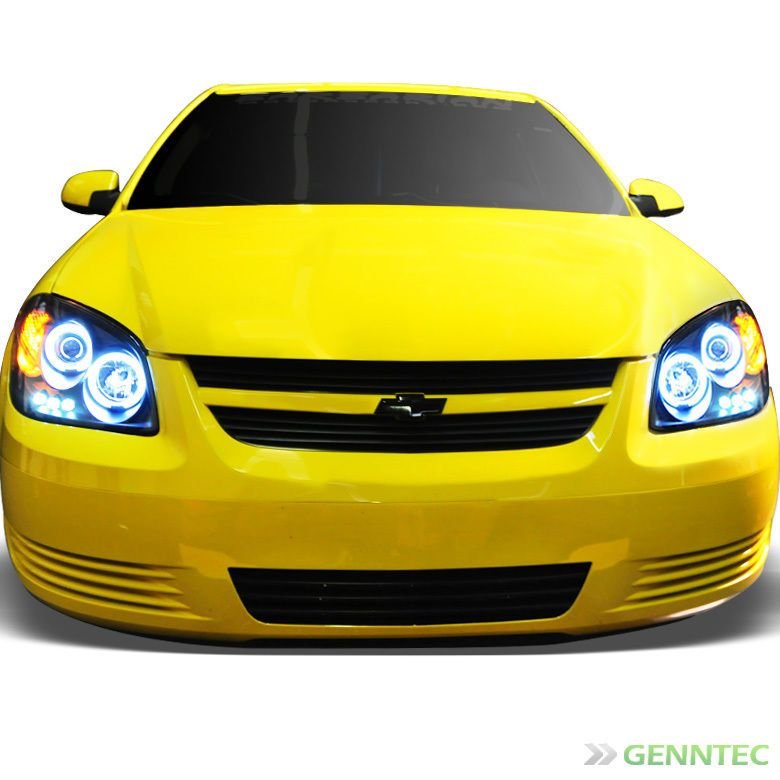 For ccfl halo 05 10 chevy cobalt led projector headlights blk head for ccfl halo 05 10 chevy cobalt led projector headlights blk head lights pair sciox Gallery