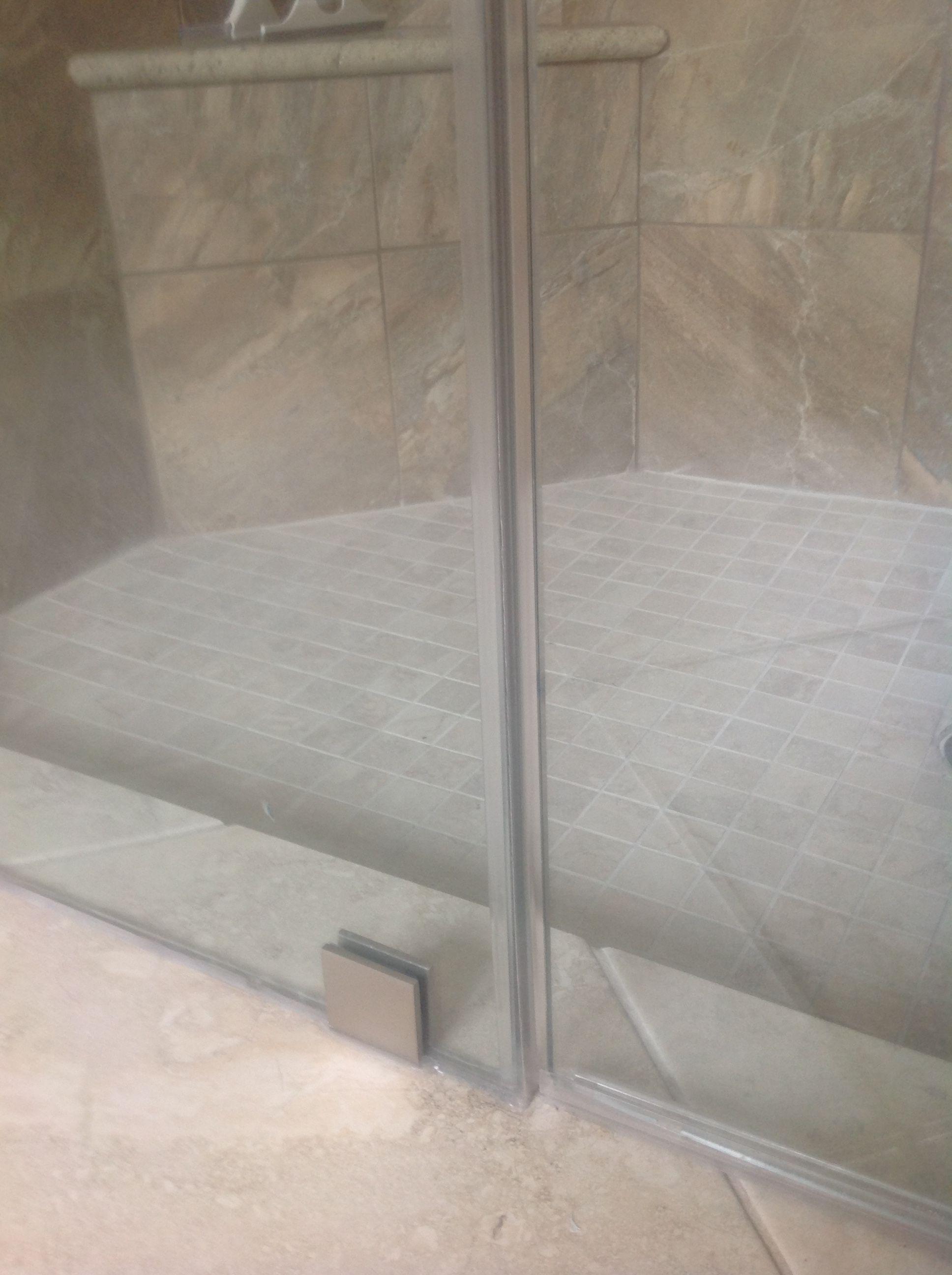 Shower door plastic molding