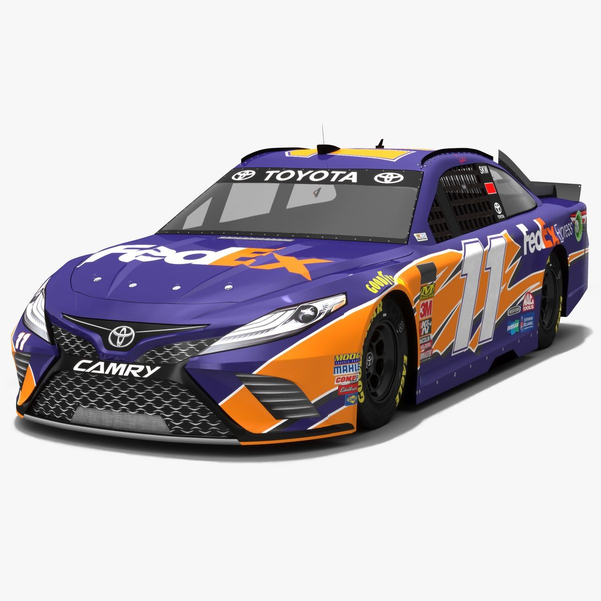 Very Recognizable Purple Racecar On A Nascar 2018 Race Track Is