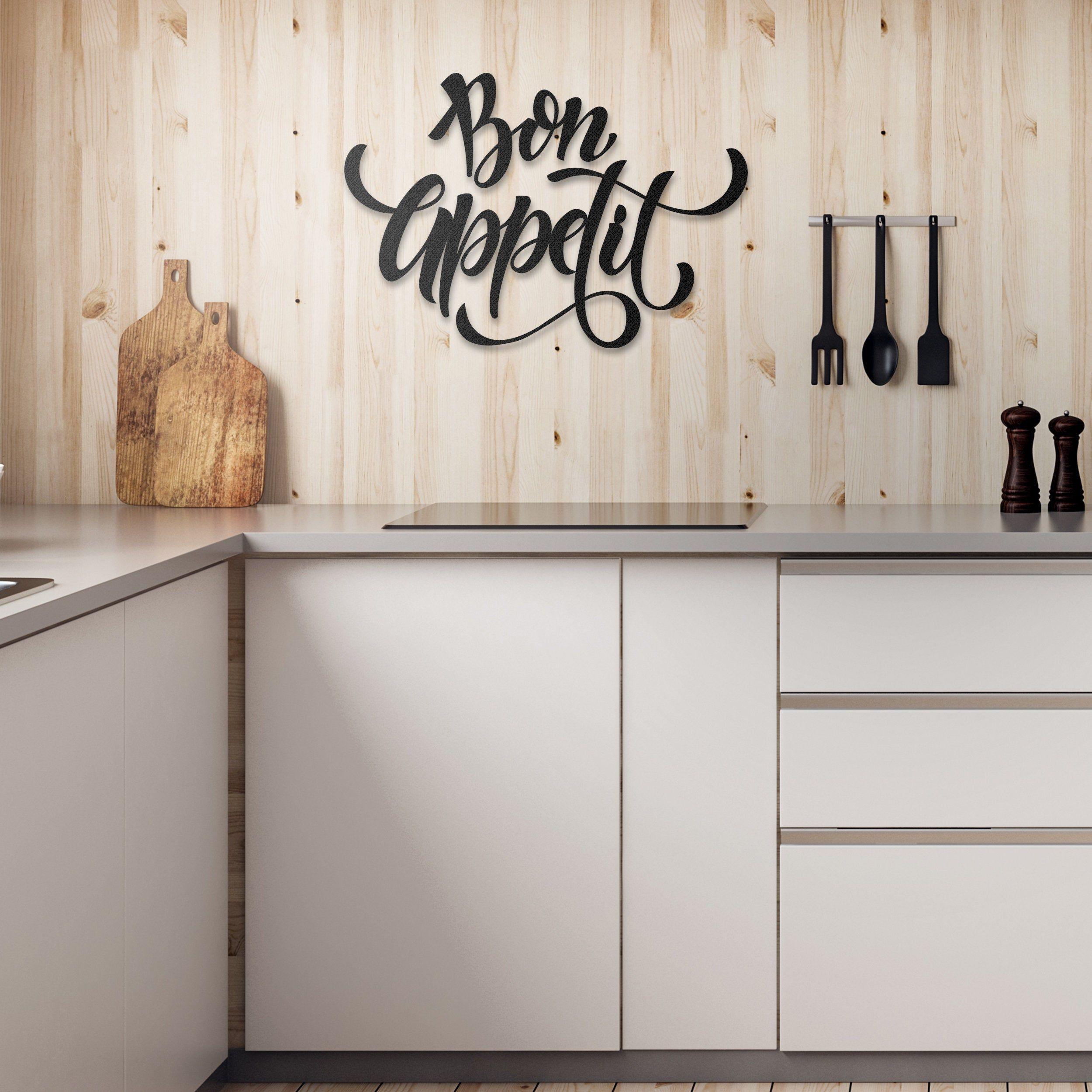Bon Appetit Metal Wall Art Metal Wall Sign Metal Wall  Etsy in