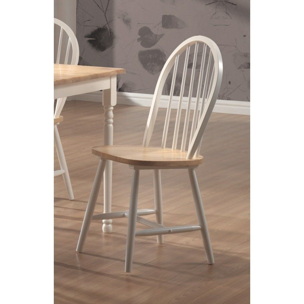 Framington Country Twotone Wood Dining Chairs (Set of 4