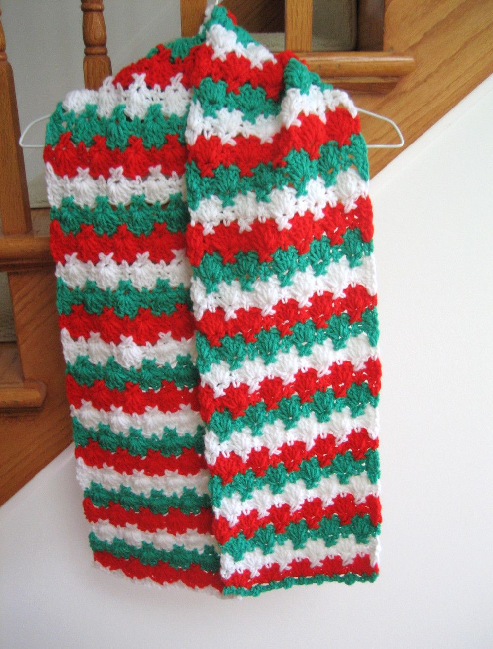 Holiday Criss Cross Crocheted Scarf Pattern | Crochet scarf patterns ...