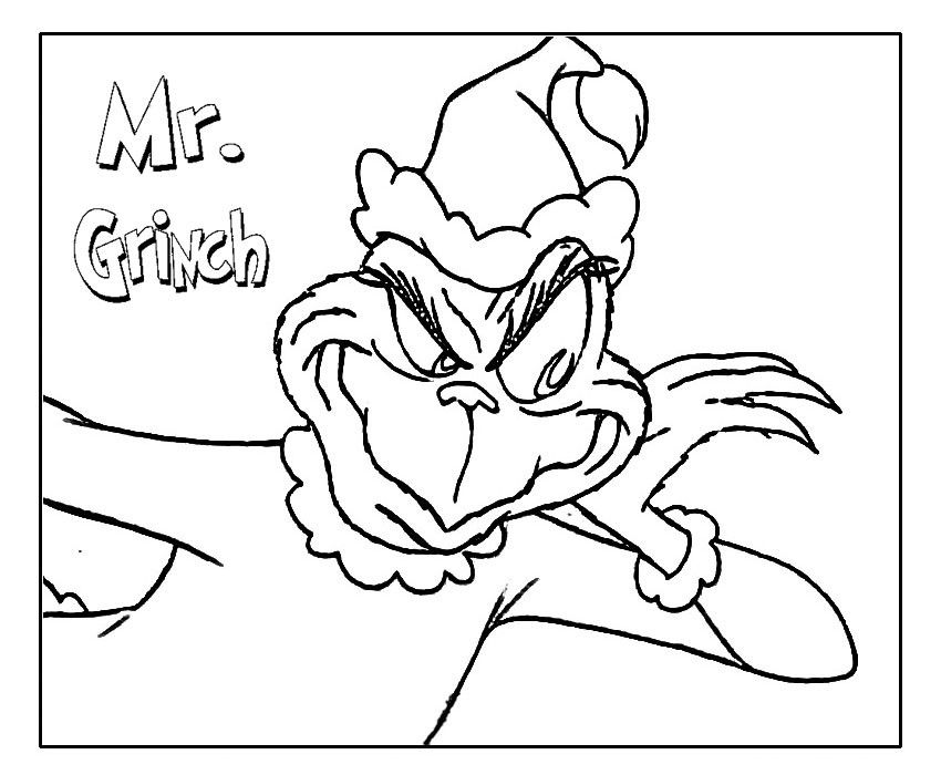 Grinch Coloring Pages Printable For Here Bebo Pandco Home
