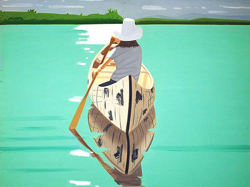 "Love the image.  Canoe not a kayak but still evokes that ""peaceful, easy feeling."""