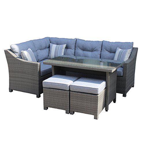 Marvelous BISAO Outdoor Lounge Set   Garden Corner Sofa   Aluminum And Poly Rattan