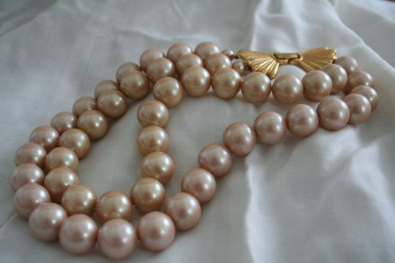Champage Pearl Necklaces For Women Richelieu Champagne Colored