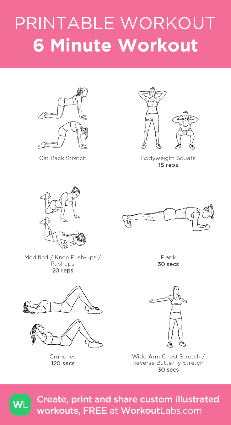 6 Minute Workout my custom exercise plan created at