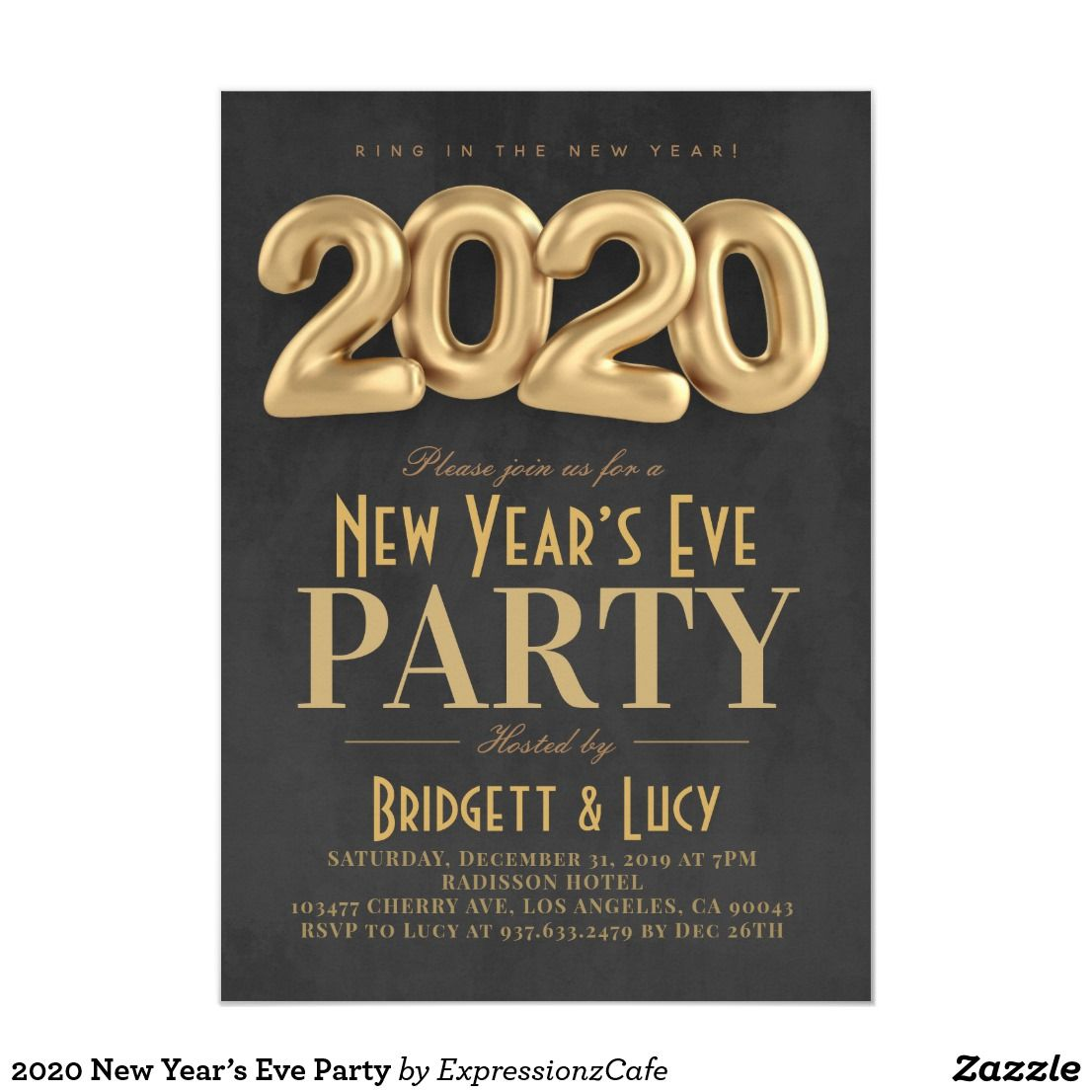 2020 New Year's Eve Party Invitation Eve