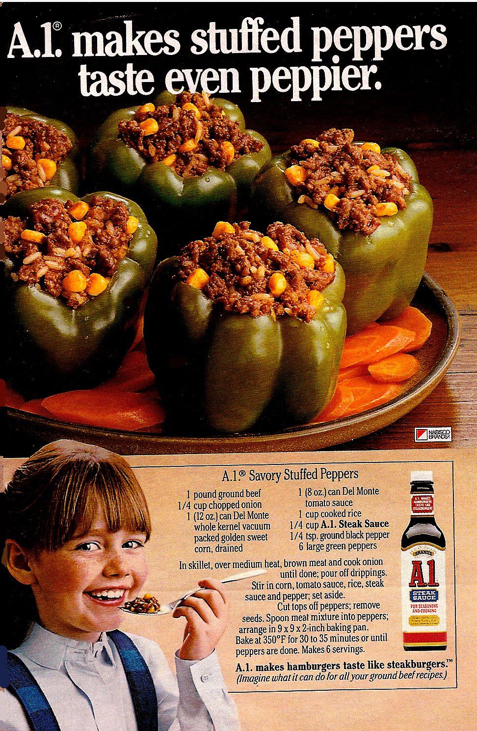 A1 Savory Stuffed Peppers Vintage Again I 3 Vintage Recipes Stuffed Peppers Vintage Recipes Retro Recipes