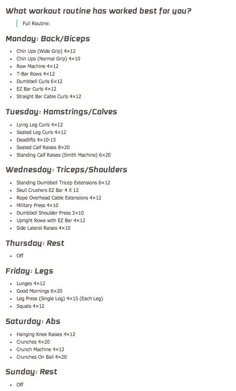 Michelle Levins Workout Routine