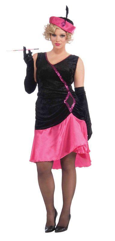 9b1e5db274d4c Penny Pink Flapper Plus Size Costume