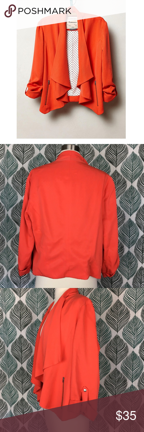 Cartonnier Anthropologie Coral Travelogue Blazer Name Brand: Cartonnier  Condition: Pre Owned, Excellent condition light wear, no holes, stains or  flaws to ...