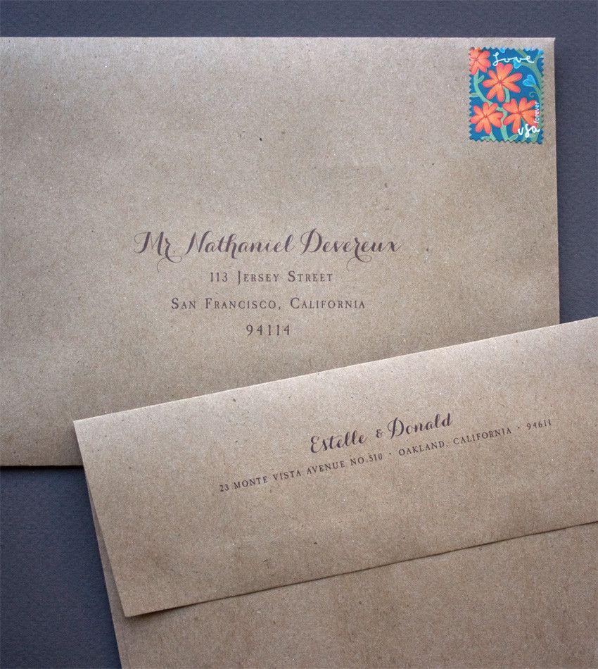 how to return address wedding envelopes%0A Guest Address on Front and Return Address on Back