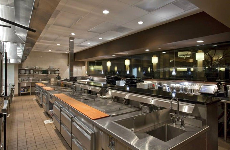 1360x889 px Современный ресторан, Макеты кухни