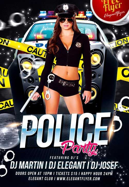 Police Party Free PSD Flyer Template House cleaning Pinterest - house cleaning flyer