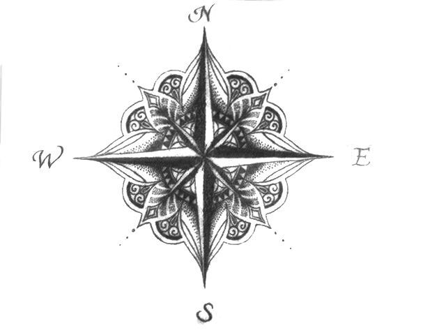 Awesome Compass Rose Tattoo Designs Tattoos Pinterest