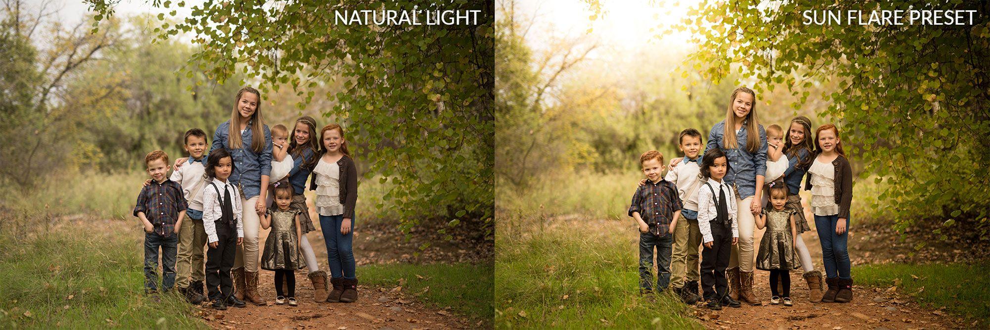 Sun flare lightroom preset