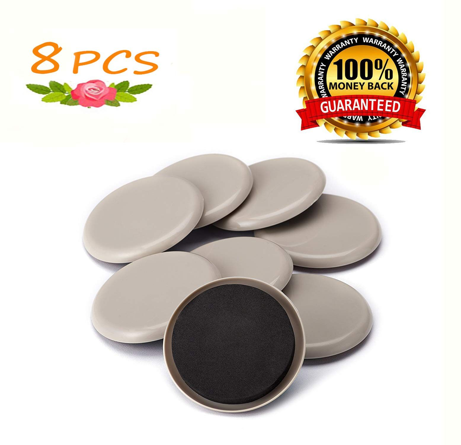 Furniture Sliders For Carpet 8 Pack 3 5 Furniture Pads Reusable Pads Heavy Furniture Easy Movers Sliders Gl In 2020 Furniture Sliders Furniture Pads Furniture Movers