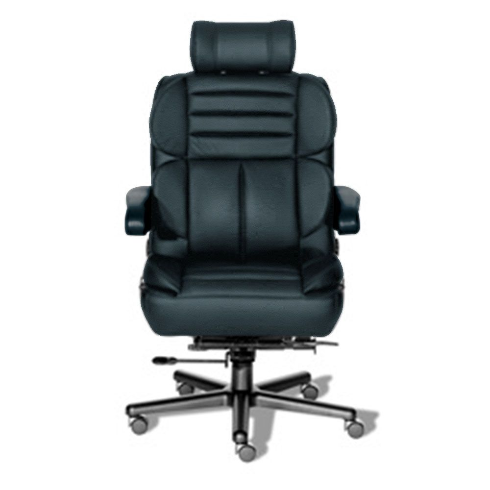 24 7 Big And Tall Chair With Headrest In Leather Tall Chairs Office Chair Heavy Duty Chairs