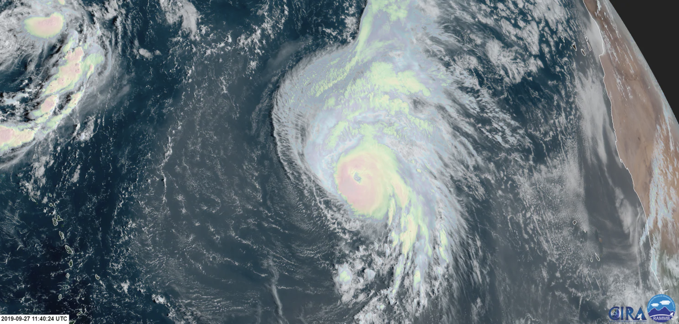 As Tropical Storm Karen Withers Away Hurricane Lorenzo Has Become 8220 One Of The Largest And Most Powerful Hurr National Hurricane Center Hurricane Ominous