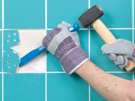 How To Fix Broken Wall Tile And How To Regrout Shower Cubicles - How to fix broken tile in bathroom