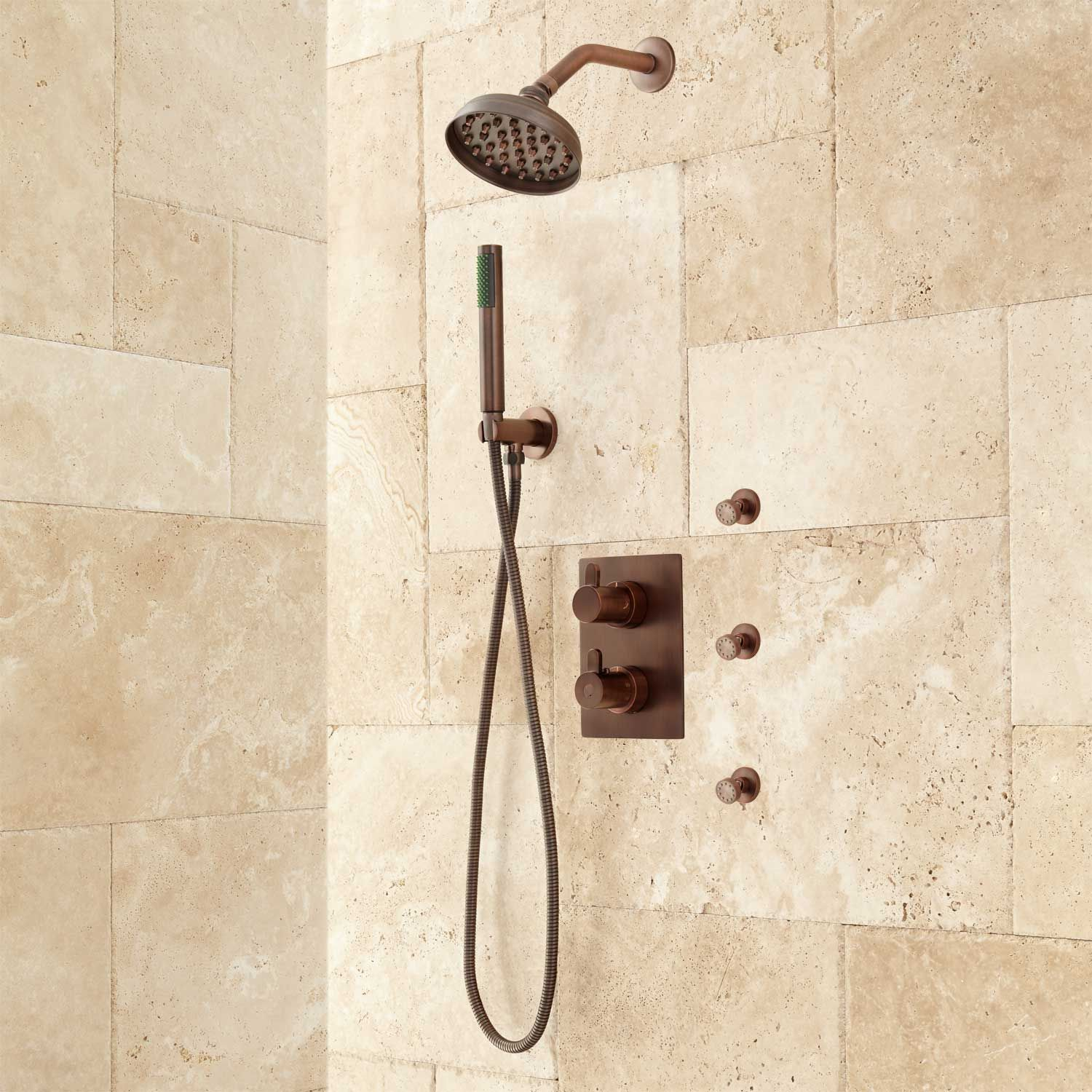Hinson Shower System With Hand Shower 3 Body Sprays In Oil