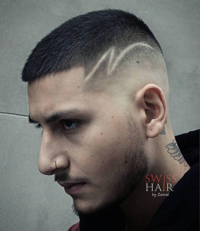 Coupe Courte Homme Le Style En Raccourci Traits Cheveux