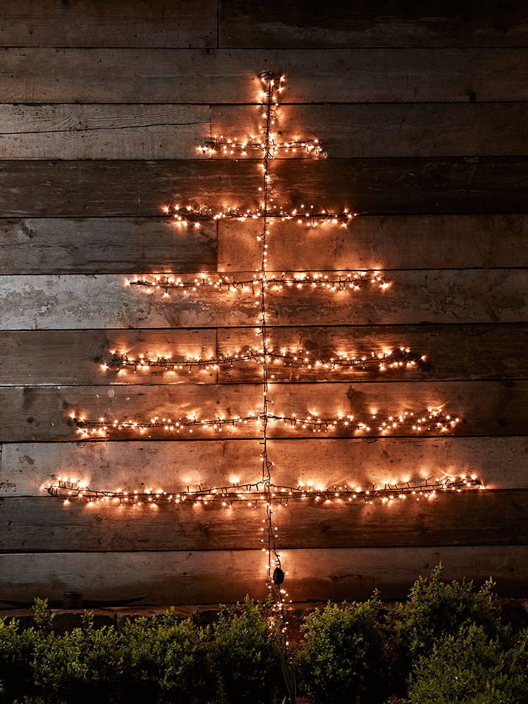 the possibilities are endless with our easy tree lights place on a real christmas tree faux tree or garden tree or alternatively wrap the ends around