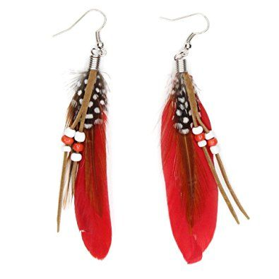 Contemporary KISSPAT Feather Earrings Cute Feather feather earrings