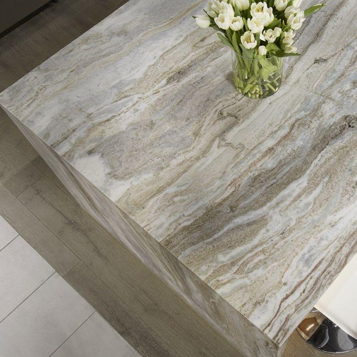 Half Bath Granite Fantasy Brown Leather Finish Tile Backsplash And Granite Pinterest Half