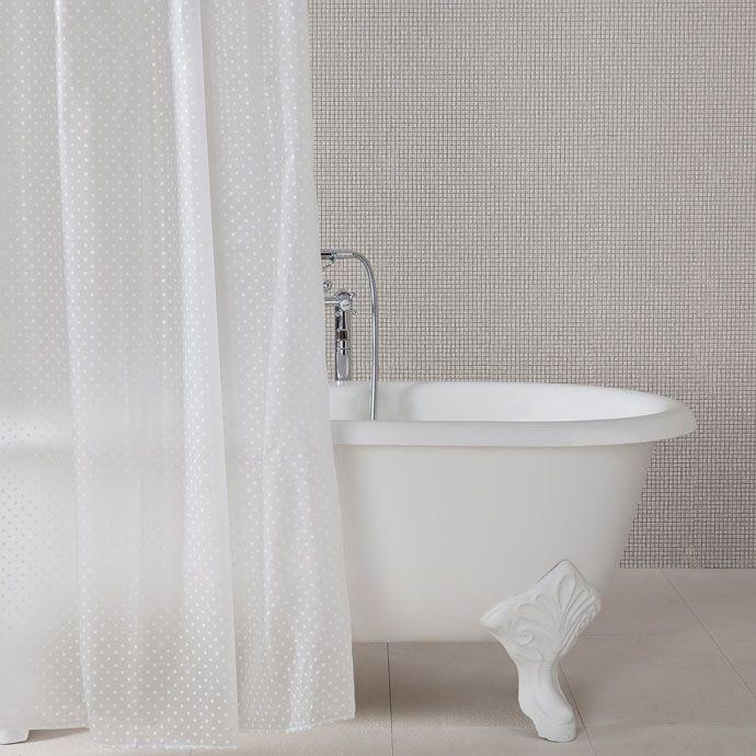 Moderne dusche mit duschvorhang  DUSCHVORHANG MIT TUPFEN - Duschvorhang - Bad | Zara Home Deutschland ...