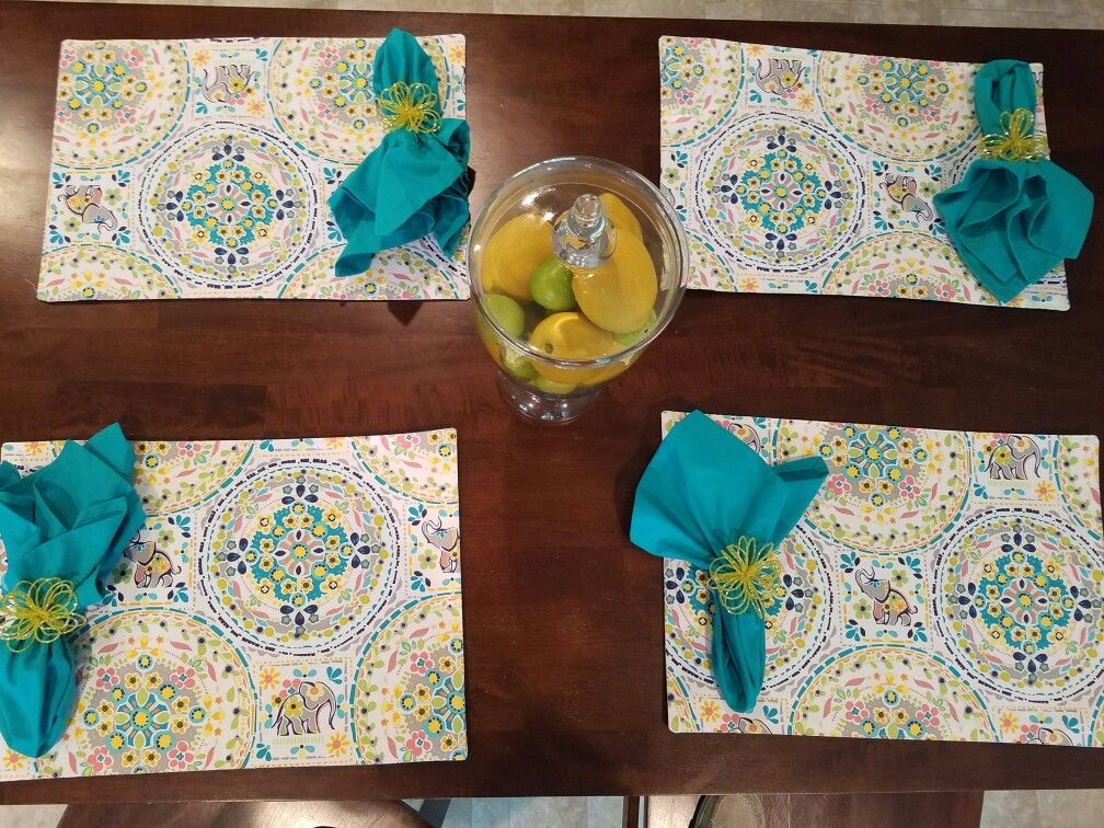 Elephant table mats