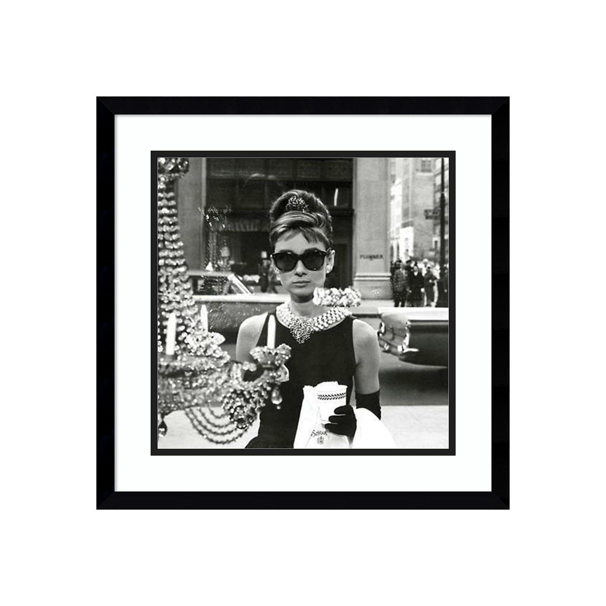 Amanti Art Audrey Hepburn Breakfast At Tiffany\'s Window Framed Wall Art