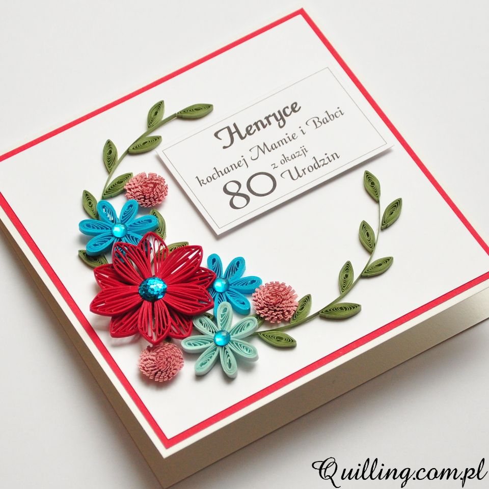 80 Urodziny With Images Paper Quilling Designs Quilling
